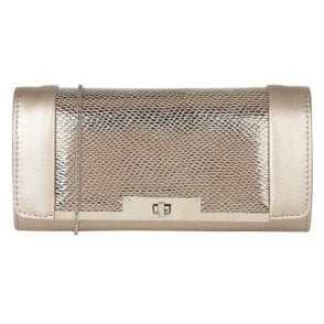 Zonda Pewter Reptile Print Clutch Bag