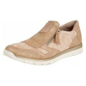 Marigold Rose Snake Print Zip-Up Shoes