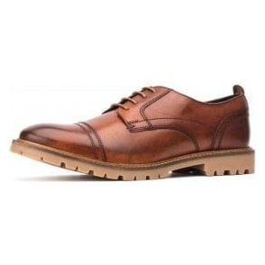 Pike Washed Tan Leather Lace Oxford Shoe