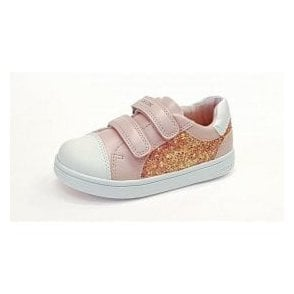 DJRock G E Rose / White Girls Trainer Shoe