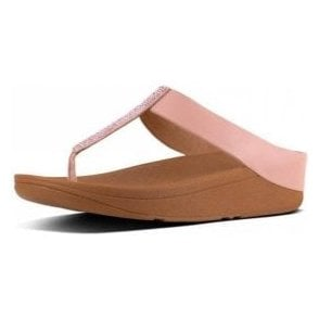 Fino Crystal Toe Thong Dusky Pink Sandal