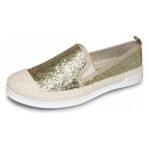 Tahiti FLH955 Gold Glitter Casual Shoe