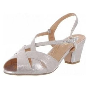 Libby II Bamboo Metallic Leather Sandal
