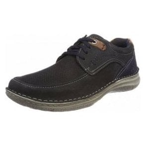 Anvers 75 Navy Nubuck Leather Lace Shoe