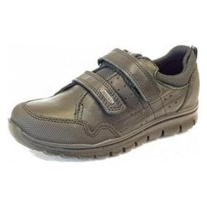PHLGT 23890 Waterproof Black Leather Boys School Shoe