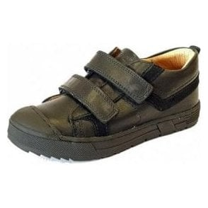 PSB 24247 Black Leather Boys Velcro Shoe