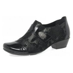 D7333-04 Black Patent / Leather Velcro Shoe