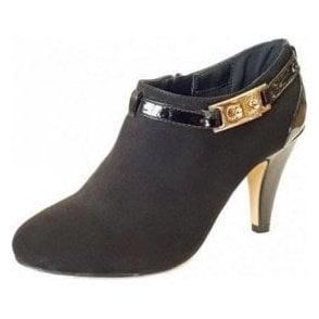 Nola Black Felt Shoe-Boots