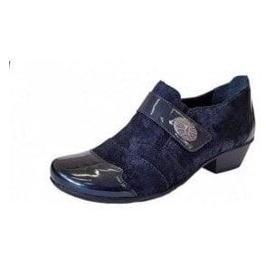 D7333-16 Navy Patent / Leather Velcro Shoe