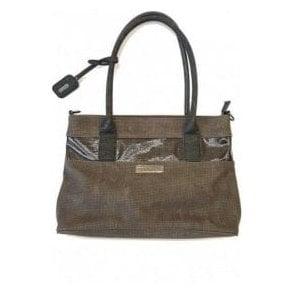 H1325-45 Grey Multi Handbag