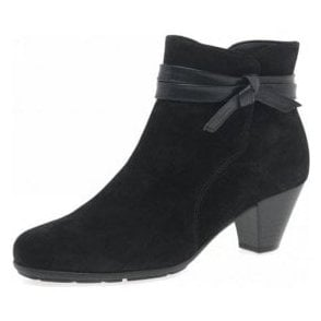 Tiffey 95.642.37 Black Suede Ankle Boot