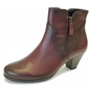 Martineau 95.640.25 Wine Leather Ankle Boot