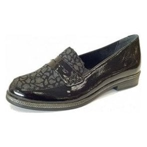 D2622-02 Black Leather Loafer Shoe