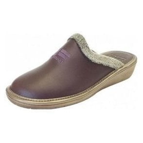 238 Ohio Morado Purple Leather Mule Ladies Slipper