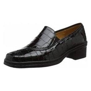 Frith 96.026.97 Black Croc Patent Shoe