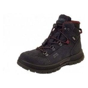 PSCGT 23974 Black Suede Leather Waterproof Boys Boots