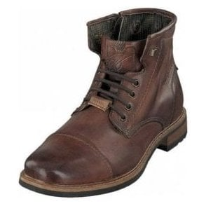 Marcello 311-37739 Brown Leather Lace Up Boot