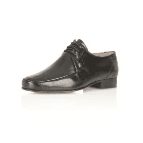 Romsey Black Leather Lace up Shoe