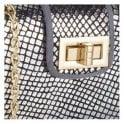 Lotus Cordelia Pewter Snake Print Clutch Bag