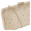 Lotus Lule Nude Microfibre & Diamante Clutch Bag
