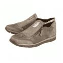 Lotus Cavell Stone / Beige Reptile Print Zip-Up Trainer Shoes