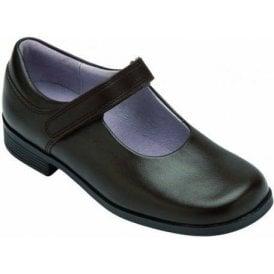 Samba Brown Leather Girl's Shoe