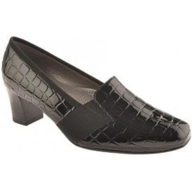 41781-01 Black Patent Croc Shoe