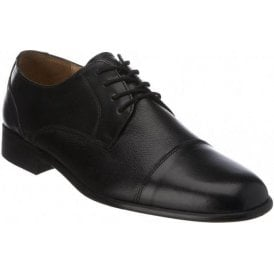 Farnham Black Leather Lace up Shoe