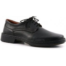 Talcott Black Leather Lace Shoe