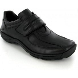 Arthur Black Leather Velcro Shoe
