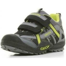 J Savage E Black / Lime Boys Shoe