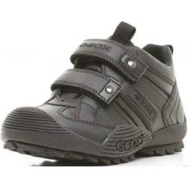 J Savage G Black Leather Boys Shoe