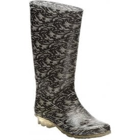 Fierce Grey Wellington Boot