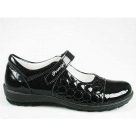 Camelia Black Patent Girl's Shoe