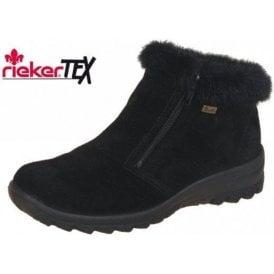 Eike L7163-00 Black Suede Waterproof Ankle Boot