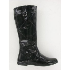 Tawnya Black Patent Girl's Boots