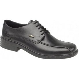 Stonehouse Black Leather Waterproof Lace Shoe