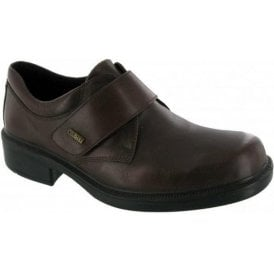 Cleeve Brown Leather Velcro Waterproof Shoe