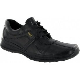 Cam Black Leather Waterproof Lace Shoe