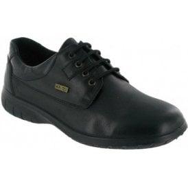Ruscombe Black Leather Ladies Waterproof Shoe