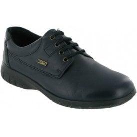Ruscombe Navy Leather Ladies Waterproof Shoe
