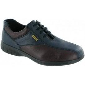 Salford Navy / Bordeaux Leather Ladies Waterproof Shoe