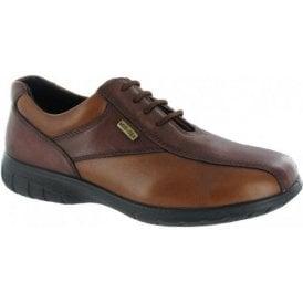 Salford Brown / Tan Leather Ladies Waterproof Shoe