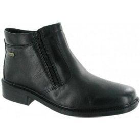 Kelmscott Black Leather Waterproof Twin Zip Mens Boot