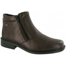 Kelmscott Brown Leather Waterproof Twin Zip Boot