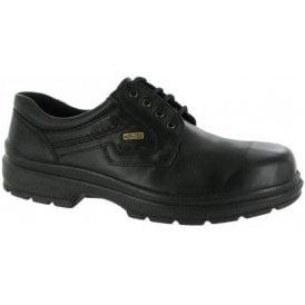 Shipston Black Leather Waterproof Lace Shoe