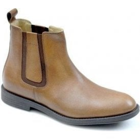4136 Tan Leather Slip On Boot