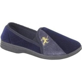 Aaron Navy / Grey Full Slipper