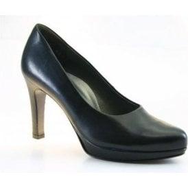 2834-918 Black Leather Court Shoe