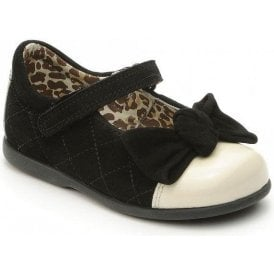 by Myleene Klass - Belle Black Suede with Cream Toe Girls Shoe